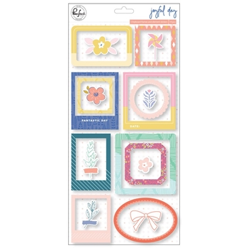 Pinkfresh Studio JOYFUL DAY Chipboard Frames And Accent Stickers pfrc200819