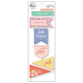 Pinkfresh Studio JOYFUL DAY Fabric Banner Stickers pfrc201119
