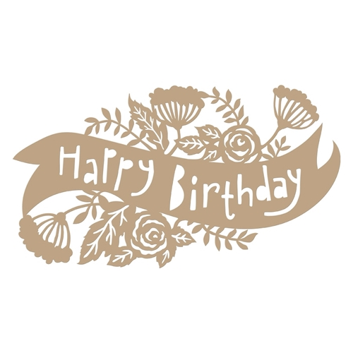 GLP-098 Spellbinders BIRTHDAY BANNER Glimmer Hot Foil Plate Preview Image
