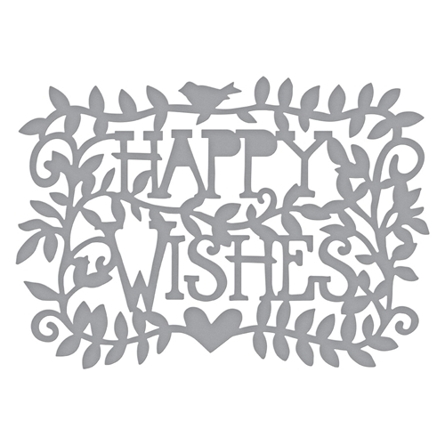 S3-374 Spellbinders HAPPY WISHES Etched Dies  Preview Image