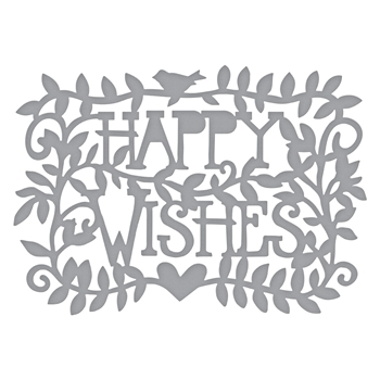 S3-374 Spellbinders HAPPY WISHES Etched Dies