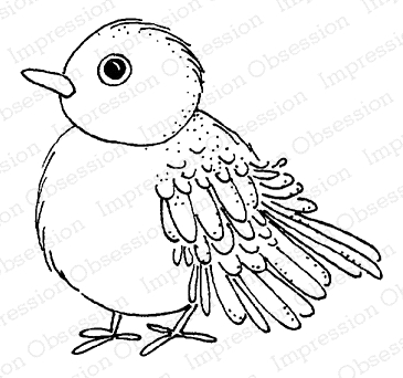 Impression Obsession Cling Stamp BIRDIE D19965 zoom image