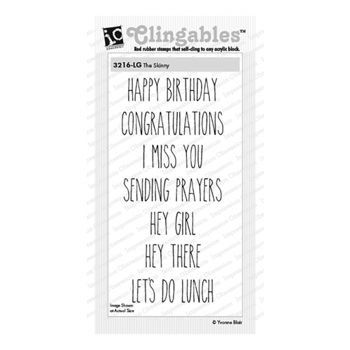 Impression Obsession Cling Stamps THE SKINNY 3216-LG Preview Image
