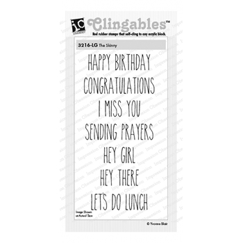 Impression Obsession Cling Stamps THE SKINNY 3216-LG