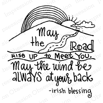 Impression Obsession Cling Stamp IRISH BLESSING D19984