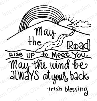 Impression Obsession Cling Stamp IRISH BLESSING D19984 zoom image