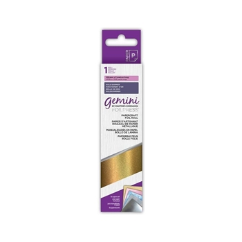 Crafter's Companion GOLD SHIMMER Gemini Foilpress Papercraft Foil Roll gem-foil-pc-gsh