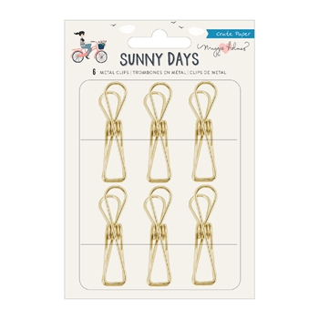 Crate Paper SUNNY DAYS Metal Clips 350814