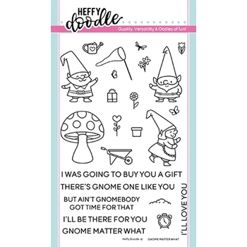 Heffy Doodle GNOME MATTER WHAT Clear Stamps hfd0116