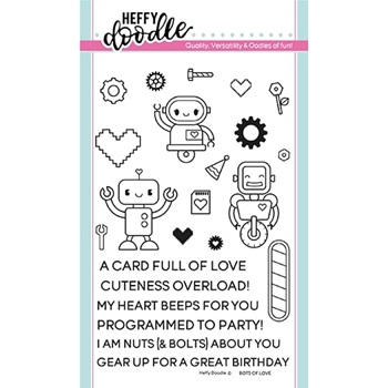 Heffy Doodle BOTS OF LOVE Clear Stamps hfd0128