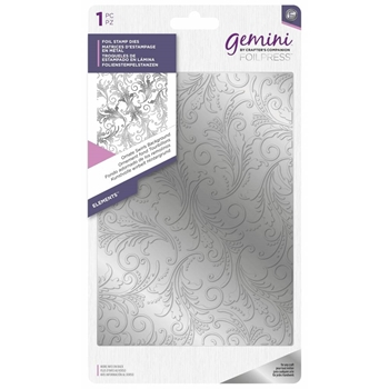 Crafter's Companion ORNATE SWIRLS BACKGROUND Gemini Foilpress Die gem-fs-ele-swibk