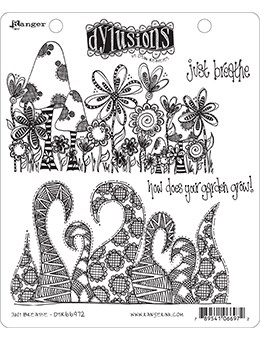 Dyan Reaveley JUST BREATHE Cling Stamp Set Dylusions DYR66972