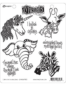 Dyan Reaveley I BELIEVE IN UNICORNS Cling Stamp Set Dylusions DYR66965  Preview Image