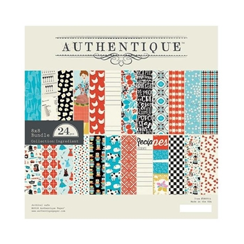 Authentique INGREDIENT 8 x 8 Paper Pad ing014