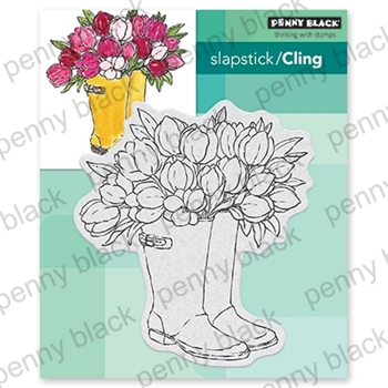 Penny Black Cling Stamp BLOOMING BOOTS 40-666
