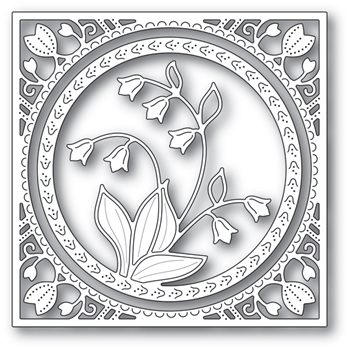 Memory Box LILY OF THE VALLEY FRAME Craft Dies 94215