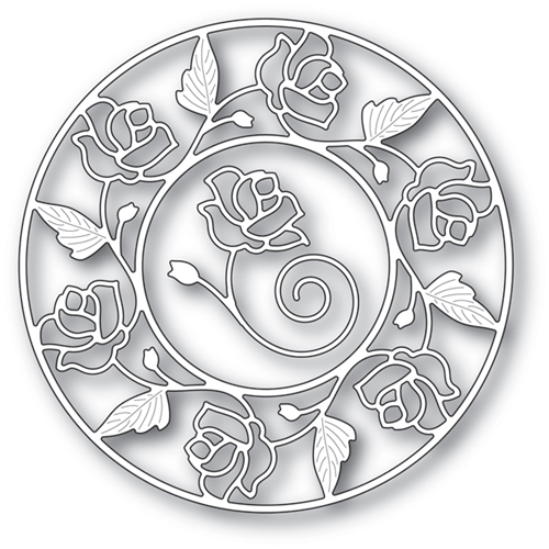 Memory Box STAINED GLASS ROSE CIRCLE FRAME Craft Dies 94231 Preview Image