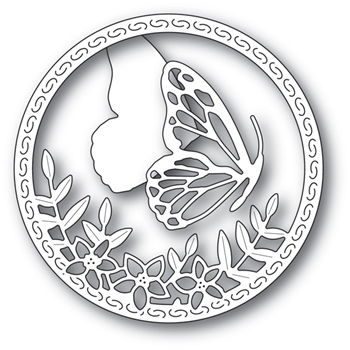 Memory Box SIDE BUTTERFLY CIRCLE Craft Dies 94232