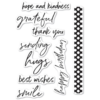 Memory Box Clear Stamps BOLD FRIENDLY GREETINGS cl5236