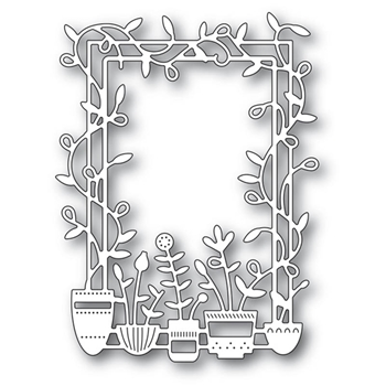 Poppy Stamps SPRING POTS FRAME Craft Die 2173