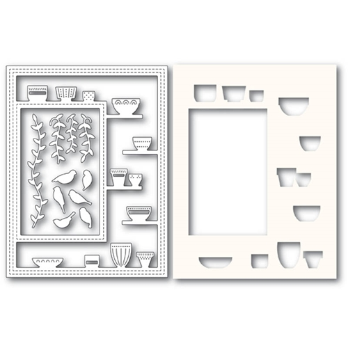 Poppy Stamps GREENHOUSE POTTED PLANTS SIDEKICK FRAME Craft Dies and Stencil 2176 Preview Image