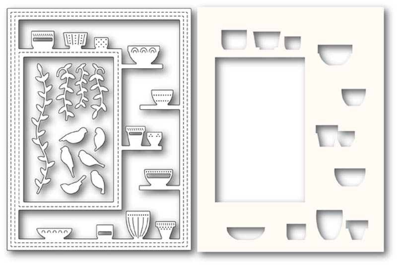 Poppy Stamps GREENHOUSE POTTED PLANTS SIDEKICK FRAME Craft Dies and Stencil 2176 zoom image