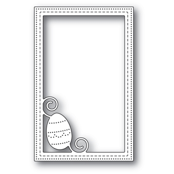 Poppy Stamps DECORATED EGG STITCHED FRAME Craft Die 2181