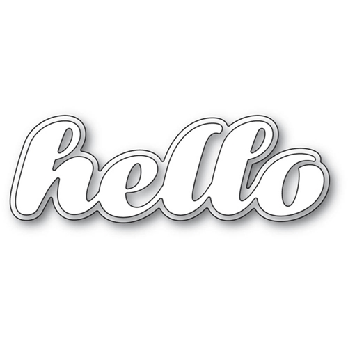 Poppy Stamps LUSCIOUS SCRIPT HELLO Craft Dies 2193 Preview Image