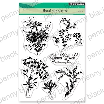 Penny Black Clear Stamps FLORAL SILHOUETTE 30-563
