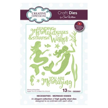 Creative Expressions MERMAID KISSES Sue Wilson Necessities Collection Dies ced23027