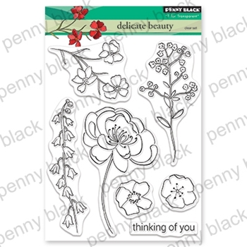 Penny Black Clear Stamps DELICATE BEAUTY 30-559