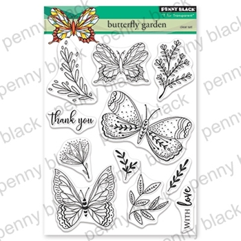 Penny Black Clear Stamps BUTTERFLY GARDEN 30-558