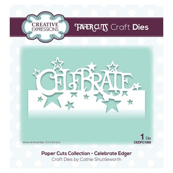 Creative Expressions CELEBRATE EDGER Paper Cuts Collection Dies cedpc1069