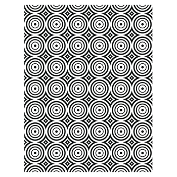 Creative Expressions CIRCLE ILLUSION Embossing Folder ef105