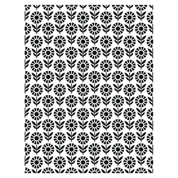 Creative Expressions FIELD OF FLOWERS Embossing Folder ef108