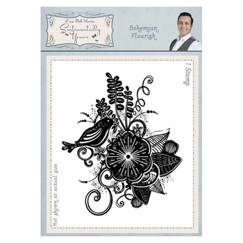 Creative Expressions BOHEMIAN FLOURISH Cling Stamp Sentimentally Yours syr045