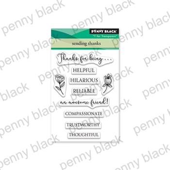 Penny Black Clear Stamps SENDING THANKS 30-552