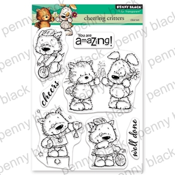 Penny Black Clear Stamps CHEERING CRITTERS 30-549
