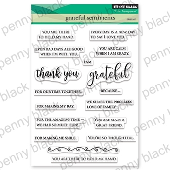 Penny Black Clear Stamps GREATFUL SENTIMENTS 30-547