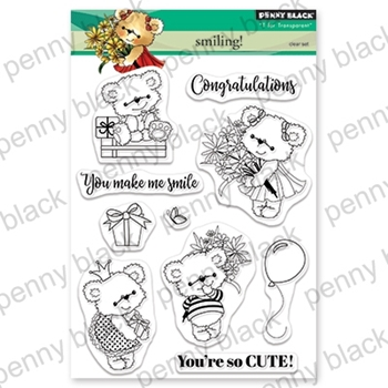 Penny Black Clear Stamps SMILING 30-546