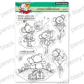 Penny Black Clear Stamps CRITTER CELEBRATION 30-542