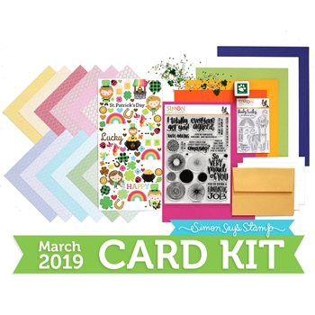Simon Says Stamp Card Kit of The Month MARCH 2019 LUCKY RAINBOW ck0319