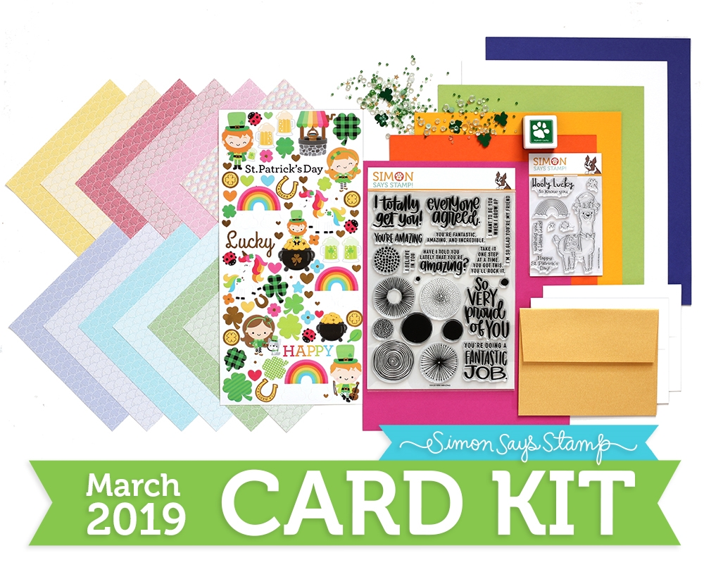 Simon's Exclusive March 'Lucky Rainbow' Card Kit