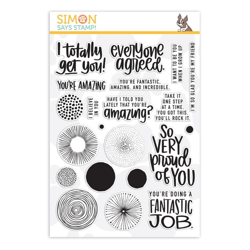 Simon's Exclusive Amazing Clear Stamp Set