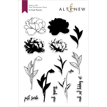 Altenew FRILLED PETALS Clear Stamps ALT3022