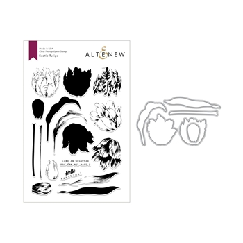 Altenew EXOTIC TULIPS Clear Stamp and Die Bundle ALT3020