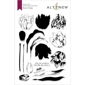 Altenew EXOTIC TULIPS Clear Stamps ALT3017