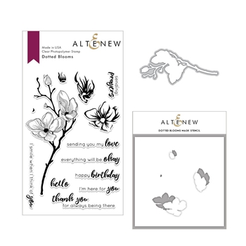Altenew DOTTED BLOOMS Clear Stamp, Die and Stencil Bundle ALT3016