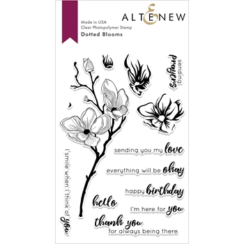 Altenew DOTTED BLOOMS Clear Stamps ALT3012