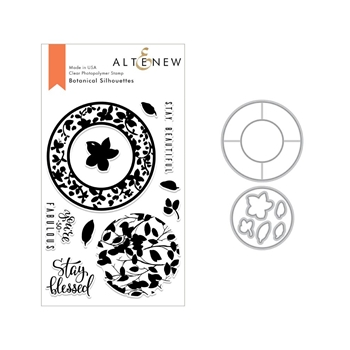 Altenew BOTANICAL SILHOUETTES Clear Stamp and Die Bundle ALT3011